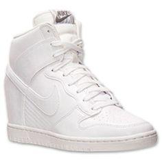 Women s Nike Dunk Sky High Leather Casual Shoes Leder Und Spitze d7437c482e7