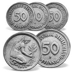 Münzbild Wertvolle münzen, Alte münzen und D mark münzen
