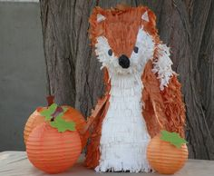 Woodland Fox Pinata Made to Order by whack on Etsy, $45.00