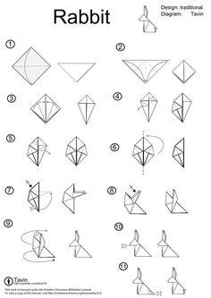 comment créer un lapin en papier - Origami Rabbit