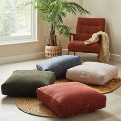 Casual Slub Forest Floor Cushion
