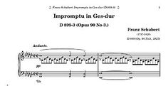 Impromptu for piano in G flat major, D. 899/3 (Op. 90/3)   by Schubert