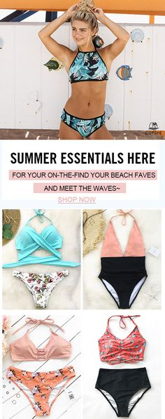 Halter bikini set makes you close to the sea. So stylish design and comfy fitness for teen girls. Why not pick one? Invite friends and pick one~ Free shipping now!