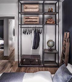 Minimal wardrobe and shelving