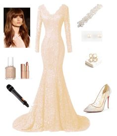 """""""fairouz"""" by dinamahmoud ❤ liked on Polyvore featuring Essie, Charlotte Tilbury, Christian Louboutin and Ann Taylor"""