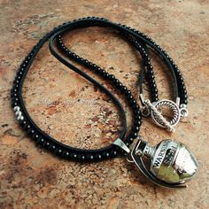 Mens Necklace Hand Grenade with Black Onyx and by mamisgemstudio, $49.95