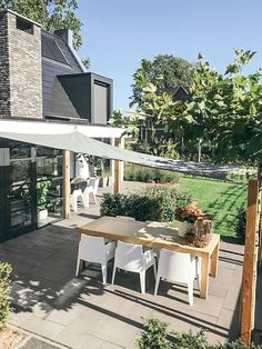 Back Gardens, Small Gardens, Outdoor Gardens, Outside Living, Outdoor Living, Outdoor Decor, Bristol Houses, Garden Awning, Patio Shade