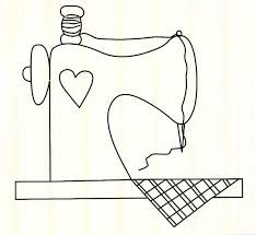 Sewing Machine • it is plain enough that it could be used as an applique pattern