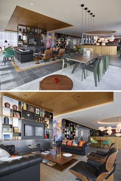 Interior Design Idea – Create A Defined Area By Using Recessed Ceiling