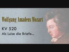 3. Song assignment of the week: 'Als Luise' - Mozart.