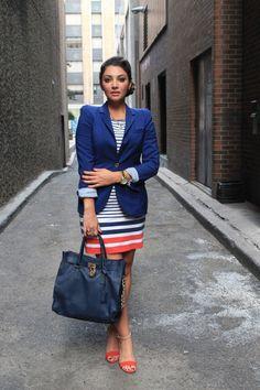 A touch of blue - Zara - Rachel Roy - Michael Kors / Yara Allam #style #michaelkors #fashion