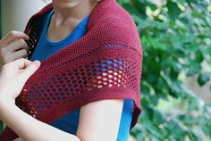 Aestlight Shawl by Gudrun Johnston | malabrigo Sock in Tiziano Red