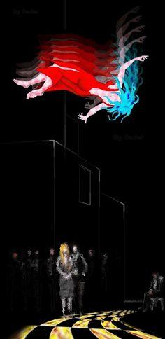 Los misteriosos testigos de la caída #artecontemporáneo #dibujo #diseño #desing #art #ilustracion#artedigital #ilustration #RicardoCadet #hechoenVenezuela #madeinVenezuela