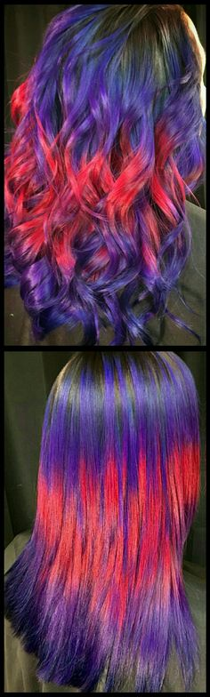 Purple pink dyed hair @uggoff