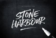 Stone Harbour Brush Font + Extras by Nicky Laatz on Creative Market