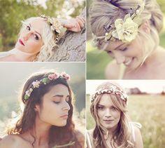 Acessórios de cabelo para noivas 2013: flores, tiaras e coroas