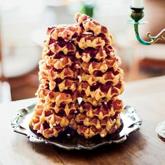 Belgian pearl sugar adds pops of sweetness to these crisp, buttery waffles that are delicious plain, without any additional syrup or butter.