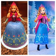 Anna of Arendelle movie Frozen cake by Batter Up Cakes