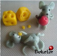 ideas for birthday cake fondant simple mice Cake Decorating Techniques, Cake Decorating Tutorials, Marzipan, Chocolate Mouse, Biscuit, Fondant Animals, Animal Cakes, Polymer Clay Figures, Fondant Decorations