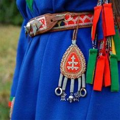 Sami Lappland Traditional Amulet and embelishments on belt Lappland, Folk Costume, Costumes, Photography Words, World Cultures, Handicraft, Norway, Scandinavian, 23 And Me