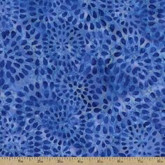 Batavian Batiks Petalburst Cotton Fabric - Dark Blue by Beverlys.com