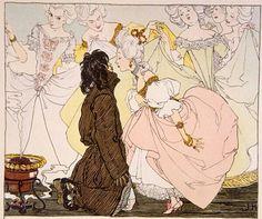 Heinrich Lefler Aus: Hans Christian Andersen: Die Prinzessin und der Schweinehirt, Wien 1897