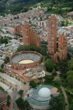 This is the bull fighting ring Santa Maria and next it the observatory in Bogota, Colombia