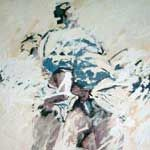 obra 160x110 cm mixta sobre yute