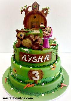 Resultado de imagen para torta masha y el oso