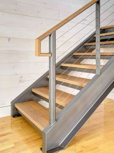 steel channels and wood treads