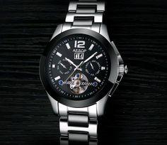Aesop Date Day Month Display Calendar Fashion Tourbillon Men's Wrist Watch #Aesop #LuxuryDressStyles