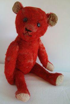 vintage red bear