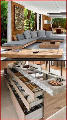 Modern Kitchen Design, Modern House Design, Interior Design Living Room, Living Room Designs, Living Room Decor, Outdoor Living Rooms, Dream Home Design, My Dream Home, Küchen Design