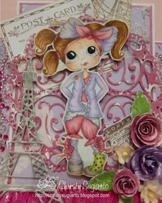 Bestie close-up by Christy Sugiarto.... see entire center-step card in her blog post