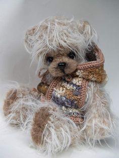 ♥ Love this little teddy bear and his little teddy bear sweater.