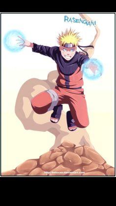 Original Art by *keucha Lineart & Color by ~belucEn Naruto by Masashi Kishimoto Rasengan I Love Anime, Naruto Shippuden, Original Art, Deviantart, Manga, Fictional Characters, Manga Comics, Fantasy Characters