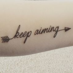 My tattoo and meaning-An arrow can only be shot by pulling it backwards. When life is dragging you back with difficulties, it means it's going to launch you into something great.so just focus and keep aiming.you may have to face setbacks to be able to go forward.