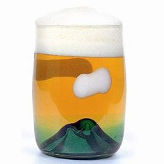 Fancy - Sunset Mountain beer glass by tsukiyono-kobo Cup Design, Design Art, Home Deco, Beer Art, Japan Design, Cool Gadgets, Craft Beer, Packaging Design, Glass Art