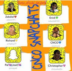 CNCO snapchats