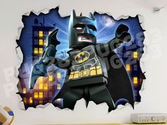 Lego Batman 3D Look Wall Vinyl Sticker Poster- Marvel DC Childrens Bedroom Mural by PUG283 on Etsy https://www.etsy.com/uk/listing/387574900/lego-batman-3d-look-wall-vinyl-sticker