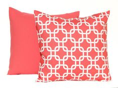 Coral Pillow Decorative Throw Pillow Covers 20 by FestiveHomeDecor
