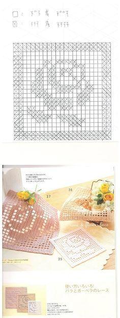 Crochet Coasters - Chart ❥ 4U // hf wondering if i can adapt the pattern to,cross stitch