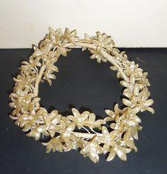 Antique Bridal Headpiece 65 Vintage Flapper Wax Flowers by Avaricia