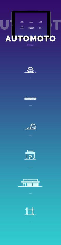 Podívejte se na můj projekt @Behance: \u201cAutomoto icon set\u201d https://www.behance.net/gallery/50106775/Automoto-icon-set