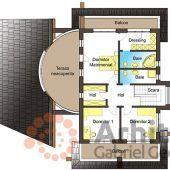 Casa cu etaj 54 | Proiecte de case personalizate | Arhitect Gabriel Georgescu & Echipa Modern House Facades, Modern Architecture, Luxury House Plans, Facade House, Design Case, Projects To Try, Floor Plans, House Design, How To Plan