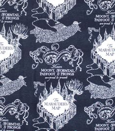 Harry Potter Flannel Fabric Marauders Map | JOANN Harry Potter Marauders Map, The Marauders, Hasbro My Little Pony, Hogwarts Crest, Custom Map, Joanns Fabric And Crafts, Craft Stores, Gifts For Kids, Printing On Fabric