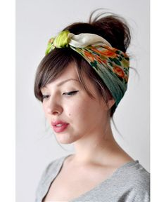 How To Tie A Scarf: There's nothing radder than a head scarf shaped into a bandana and interwoven into your strands for an easy, chic, trendy 'do. http://dropdeadgorgeousdaily.com/2013/10/sunny-strands-beat-heat-5-best-hair-tutorials/