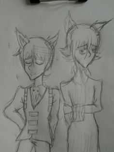 Gonna redraw the pic of Crona with cat ears (and add Kid cuz I feel like it ;3)