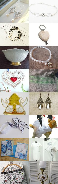 Accessories in elegant White by CrowsFeathers on Etsy--Pinned with TreasuryPin.com