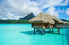 Have you ever stayed in one of these awesome thatched huts in Tahiti? What did you think of it?  #FallTravel #ttot